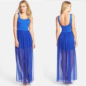 Felicity & Coco Sebastian Mixed Media Maxi Dress